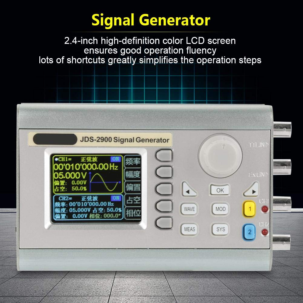 Jds2900 Dds Signal Generator Counter 15mhz 30mhz 40mhz 50mhz 60mhz High Frequency Waveform Precision Dual Channel