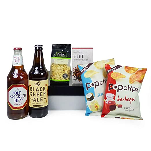 Christmas Gift Ideas For Him Amazon.Mens Nibbles Food And Beer Indulgence Hamper Presented In A Black And Silver Gift Box Gift Ideas For Christmas Presents Men Dad Him