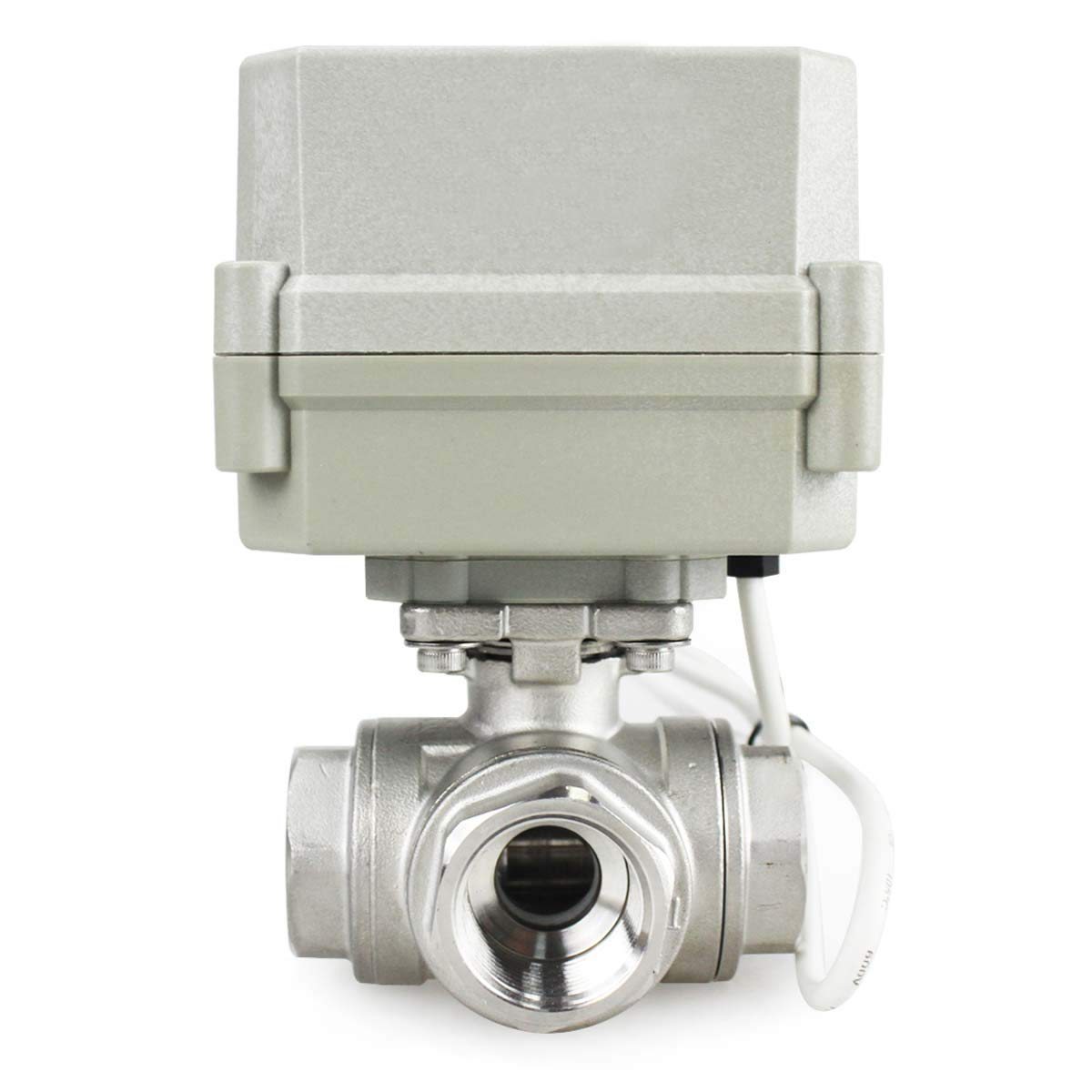 HSH-Flo Stainless Steel 3 Way 12VDC 3//4 DN20 CR2-01 2 Wires On//Off Control Electrical Motorized Ball Valve