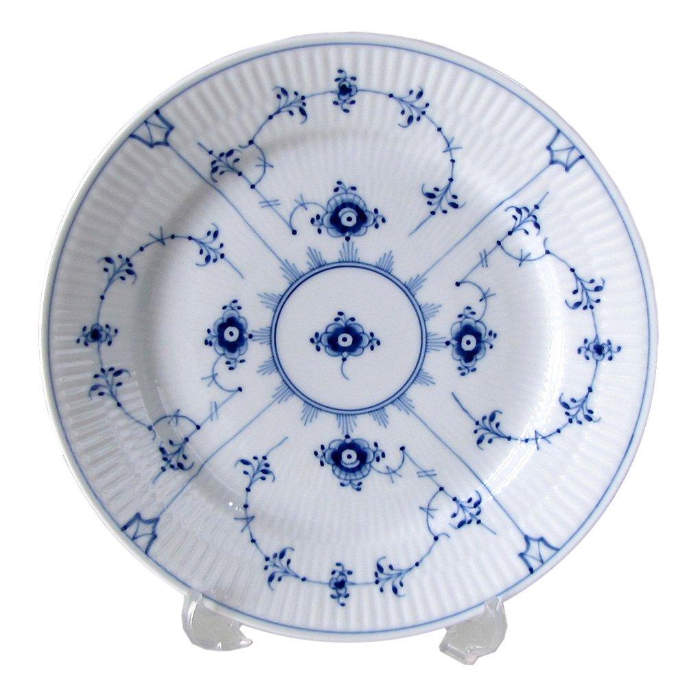 Royal Copenhagen 1101620 Blue Fluted Plain 7.5'' Salad / Dessert Plate