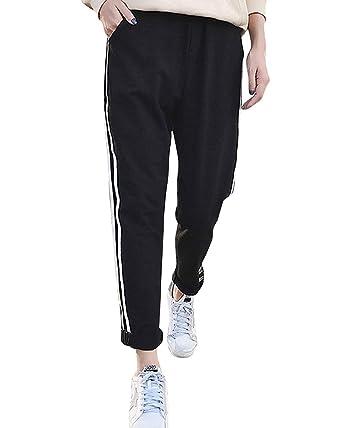 366432d79c028 Pantalon Jogging Femme Fashion Elégante Confortable Outdoor Mouvement  Training Pantalon De Sport Taille Élastique Rayures Basic