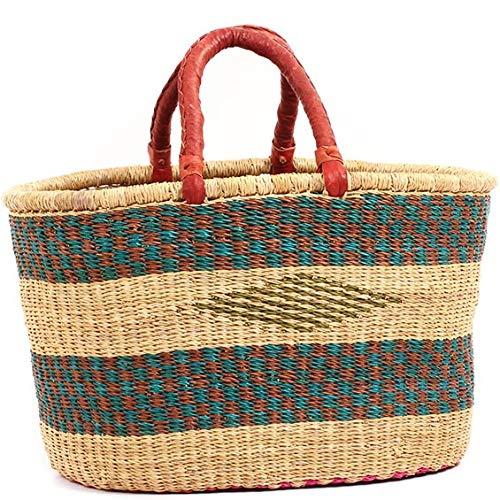 Trade Fair Shopper - Fair Trade Ghana Bolga African Oval Shopper 16-18