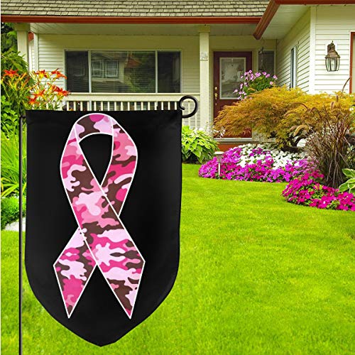Camo Pink Ribbon Home Garden Flag Vertical Double Sided Spring Summer Yard Outdoor Decorative 12 X 18 Inch (33 1 3 Pink Flag)