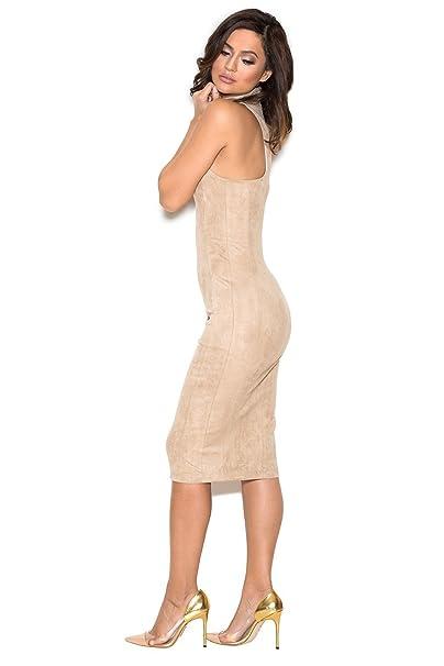 7a862a95ea22 House of CB Ecru Sergia Bodycon Dress at Amazon Women's Clothing store: