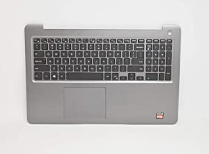 Aquamoon Trading Compatible Gray Palmrest Touchpad W/English Backlit Keyboard 3NVJK Replacement for Dell Inspiron 15 5567 5565 Laptop