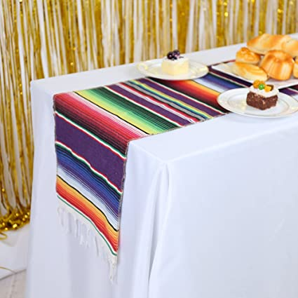 Swell Gfcc Pack Of 10 Mexican Table Runner 14X84Inch Cotton Tablerunner Mexican Blanket Runners Mexican Themed Party Supplies Wedding Decorations Event Download Free Architecture Designs Intelgarnamadebymaigaardcom