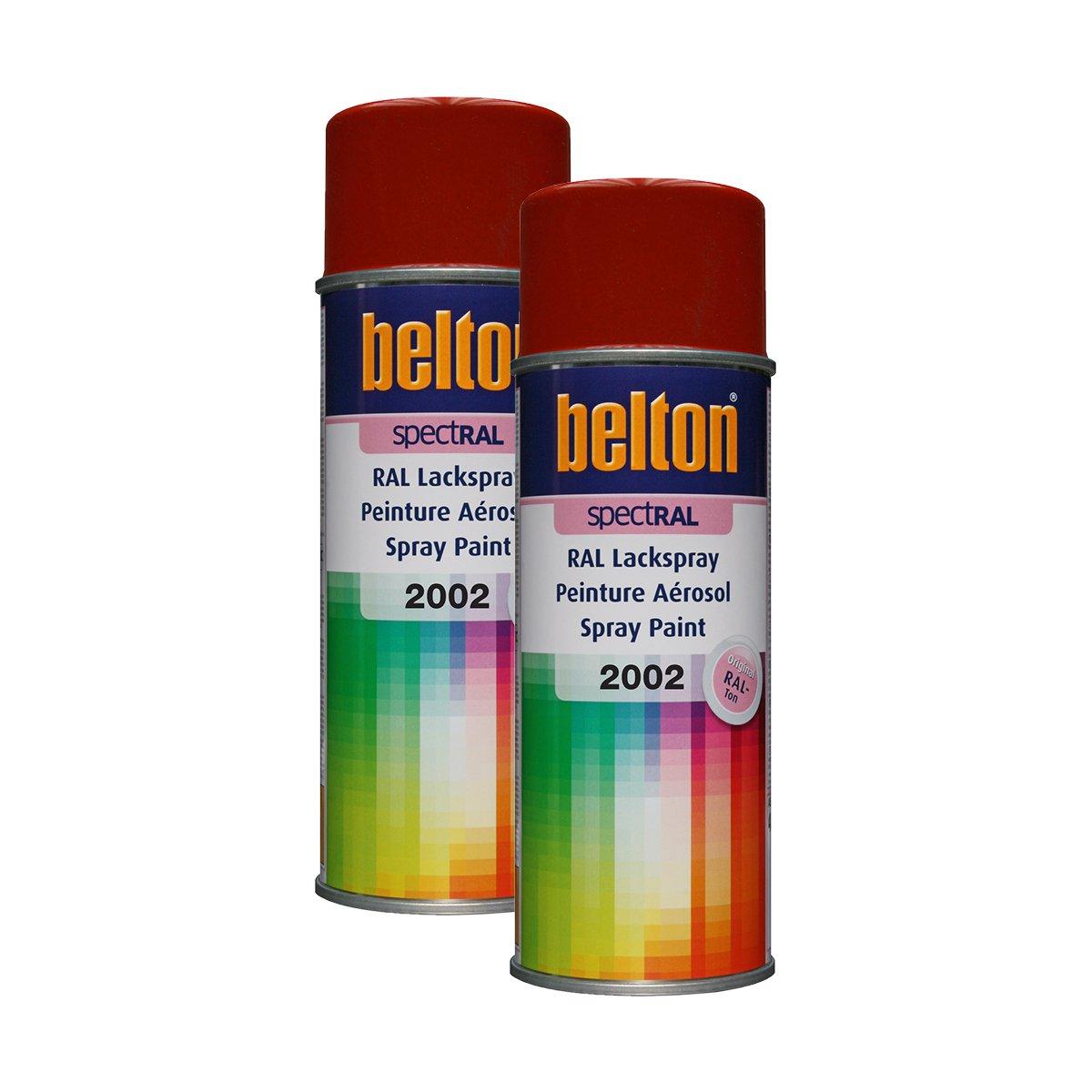 Kwasny 2 x 324 030 Belton Spectral Lackspray RAL 2002 blutorange Hochglanz 400ml