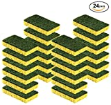 Cleaning Heavy Duty Scrub sponge by Scrub-it - Non-Scratch - Scrubbing Sponges Use for Kitchen, Bathroom & More - Yellow -24 Pack-