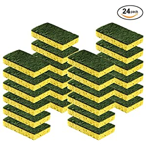 Cleaning Heavy Duty Scrub sponge by Scrub-it – Non-Scratch – Scrubbing Sponges Use for Kitchen, Bathroom & More – Yellow -24 Pack- 61MLZb4WirL