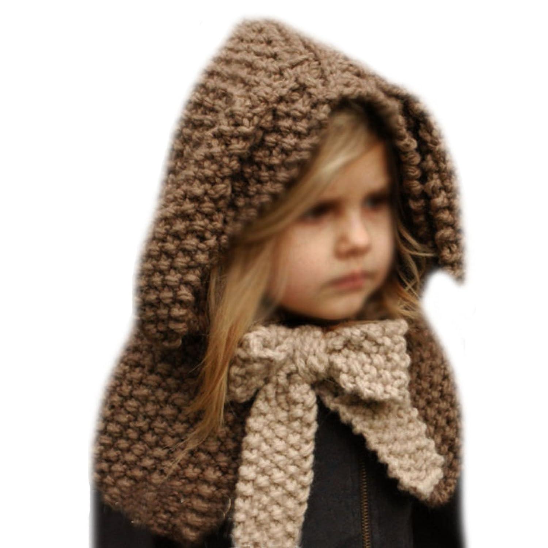 7bfb76227d9 Aisa Warm Baby Girls Boys Hat Scarf Cute Cartoon Rabbit Hats Handmade Wool  Knitted Coif Hood Scarf Earflap Hood Scarves Skull Caps Beanie Hat for  Spring ...