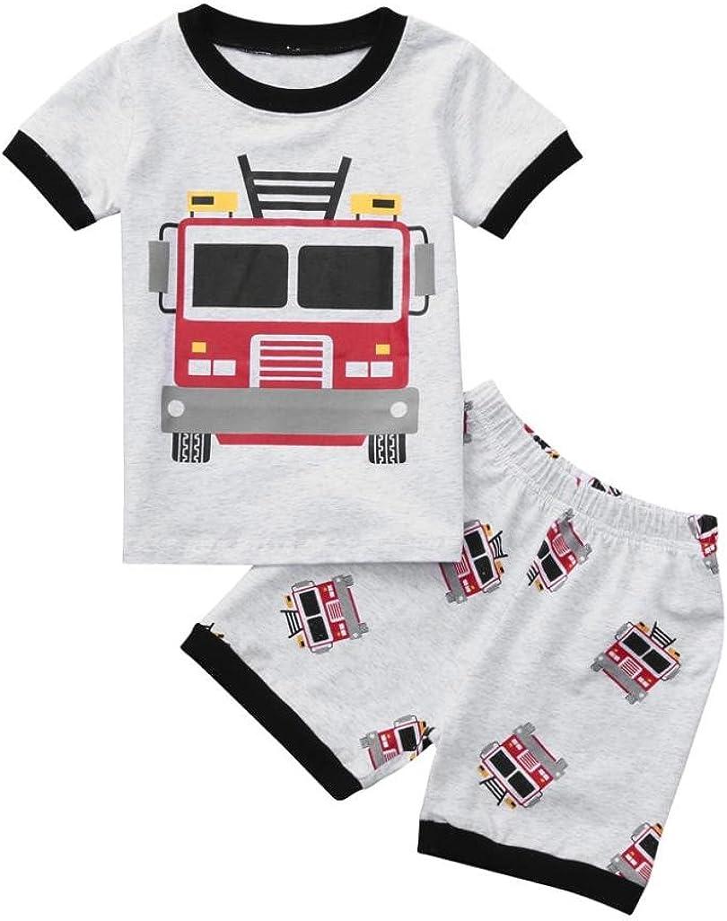 Pantalones de beb/é Ni/ño y Ni/ña QinMM Camiseta de Dibujos Animados Tops Conjunto de Camisa de Verano de Manga Corta