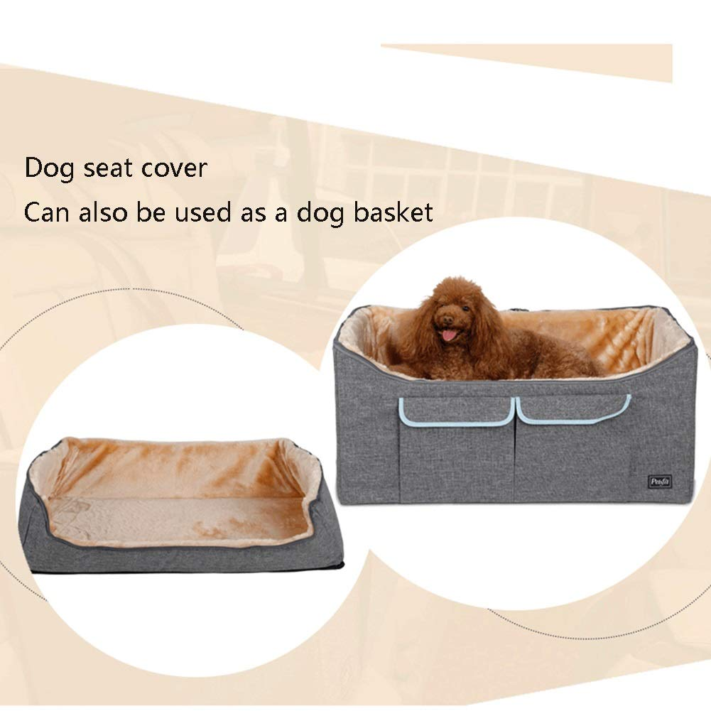 Car Travel Safety Seat Pet Carrier Bag Size : 37 /× 40 /× 35cm Safe and comfortable AIDELAI Pet Bucket Booster Seat,On Seat Car Booster For Dogs