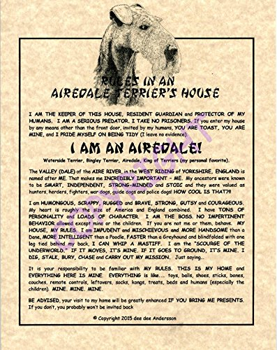 (Rules In An Airedale Terrier's House)