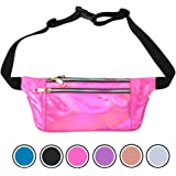 2e5f4da0f968 Amazon.com: MUSEE LILY Women Fanny Pack Fashion Shiny Neon Waist Bag ...