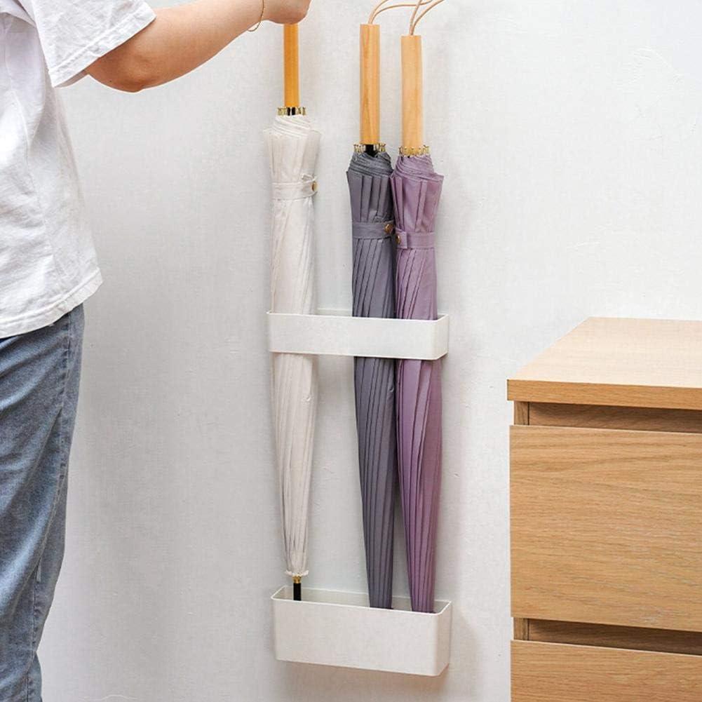 Velcro Dinapy Bastidor de parag/üero de ABS Lata de Drenaje de Paraguas Estante de Almacenamiento de 4 Orificios Estante Cuadrado 22.2x6.8cm para la Oficina del Pasillo del Pasillo del hogar