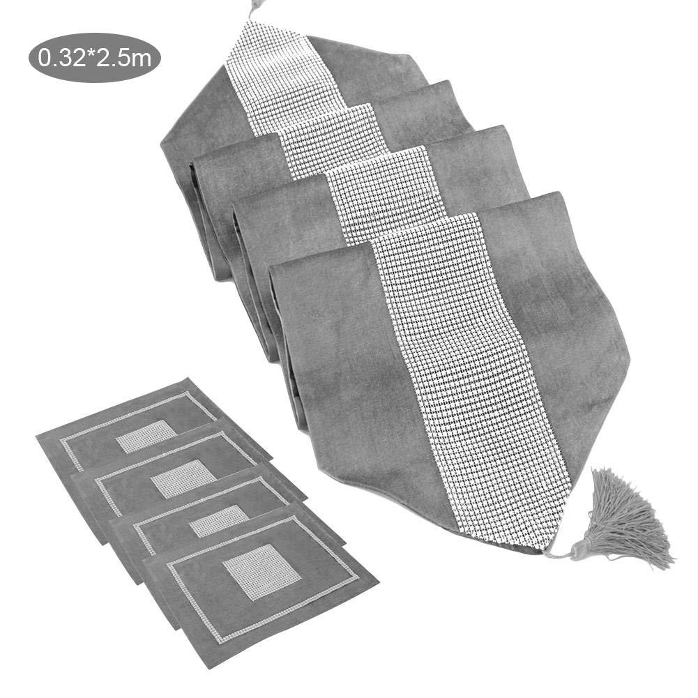 waterfail Cascade Chemin de Table Drapeau de Table Table Basse en Tissu Drap de Table atmosph/ère /él/égante Nappe Moderne Simple Nappe de Diamant Noble Luxe
