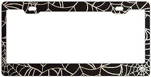 Steel Spider Web License Plate Frame for Home/Car Decor