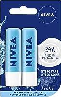 NIVEA Hydro Care Lip Balm Sticks, Duo Pack (2 x 4.8 g)