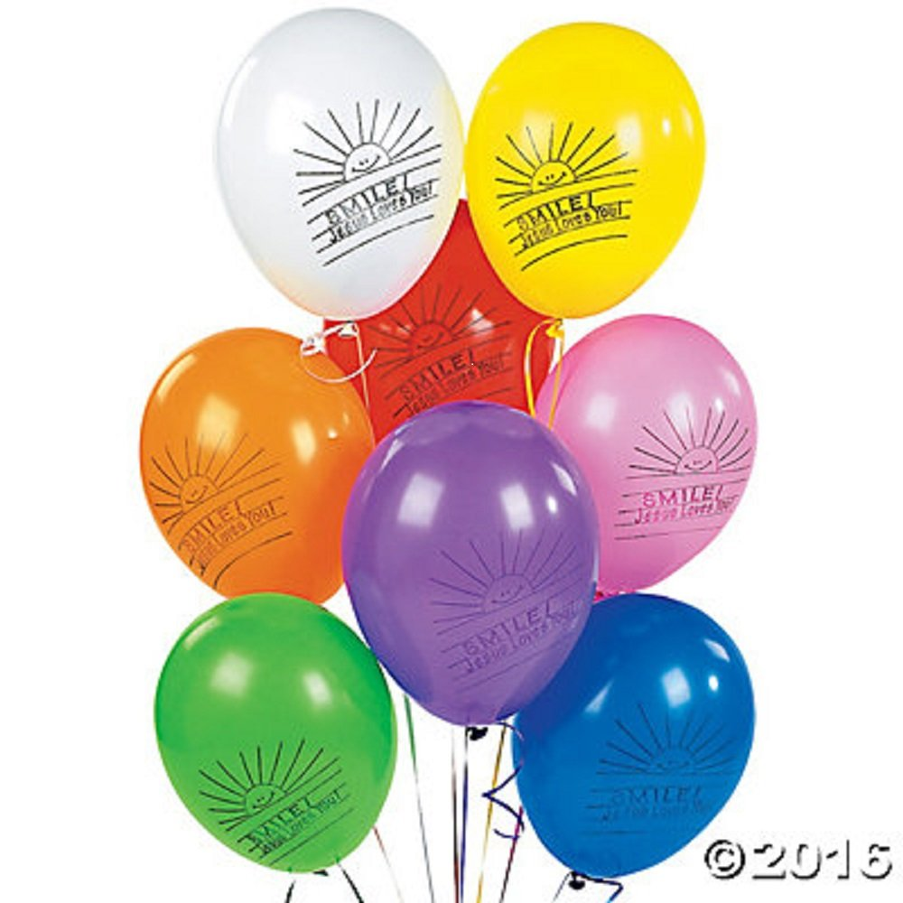 "Latex ""Smile! Jesus Loves You!"" Balloons (144 pieces)"