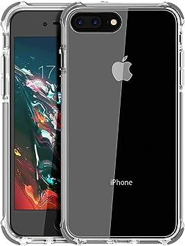 MATEPROX Funda para iPhone 8 Plus Funda para iPhone 7 Plus Transparente, Protección Anti-rasguños Parachoques a Prueba de Golpes para iPhone7 Plus / 8 Plus(Gris): Amazon.es: Electrónica