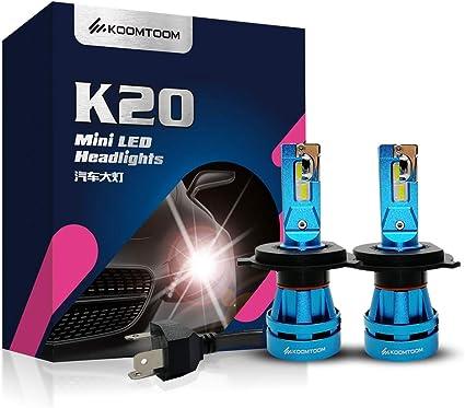KOOMTOOM Mini Bombillas Led H4 Hi Lo Kits de luces delanteras ...