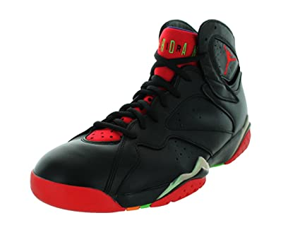 5b814806e98752 Image Unavailable. Image not available for. Color  Jordan mens Air Jordan 7  Retro Black green Pulse  Cool Grey University 304775