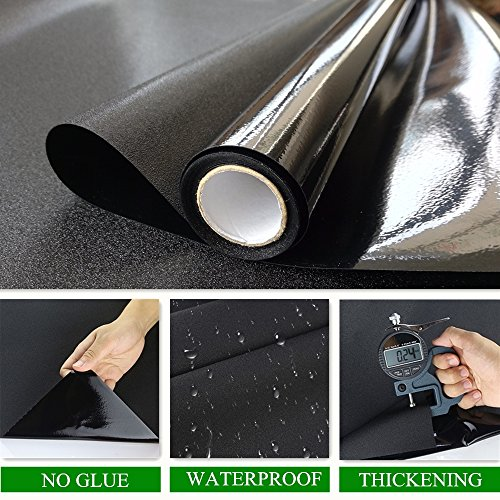 Velimax Static Cling Blackout Window Film Privacy Window Tint Black Stickers 100% Light Blocking Room Darkening No Glue 35.4'' x 78.7''(90CM by 200CM) by Velimax (Image #2)