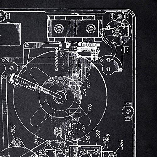 Amazon.com: Nacnic Negro - Pack de 4 Láminas con Patentes de ...