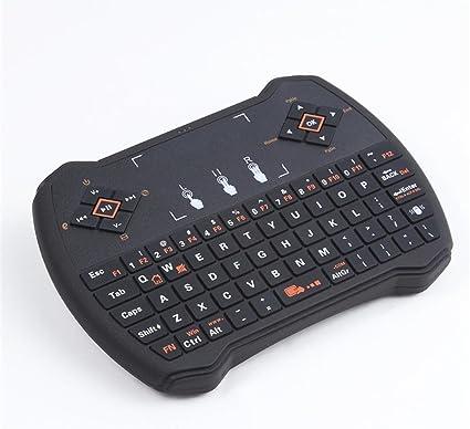 Mini teclado inalámbrico con ratón touchpad, anewish V6 A 2.4 GHz Multimedia portátil de mano