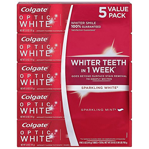 Colgate 846162 Optic White 5 Pk/ 5 oz, Shape