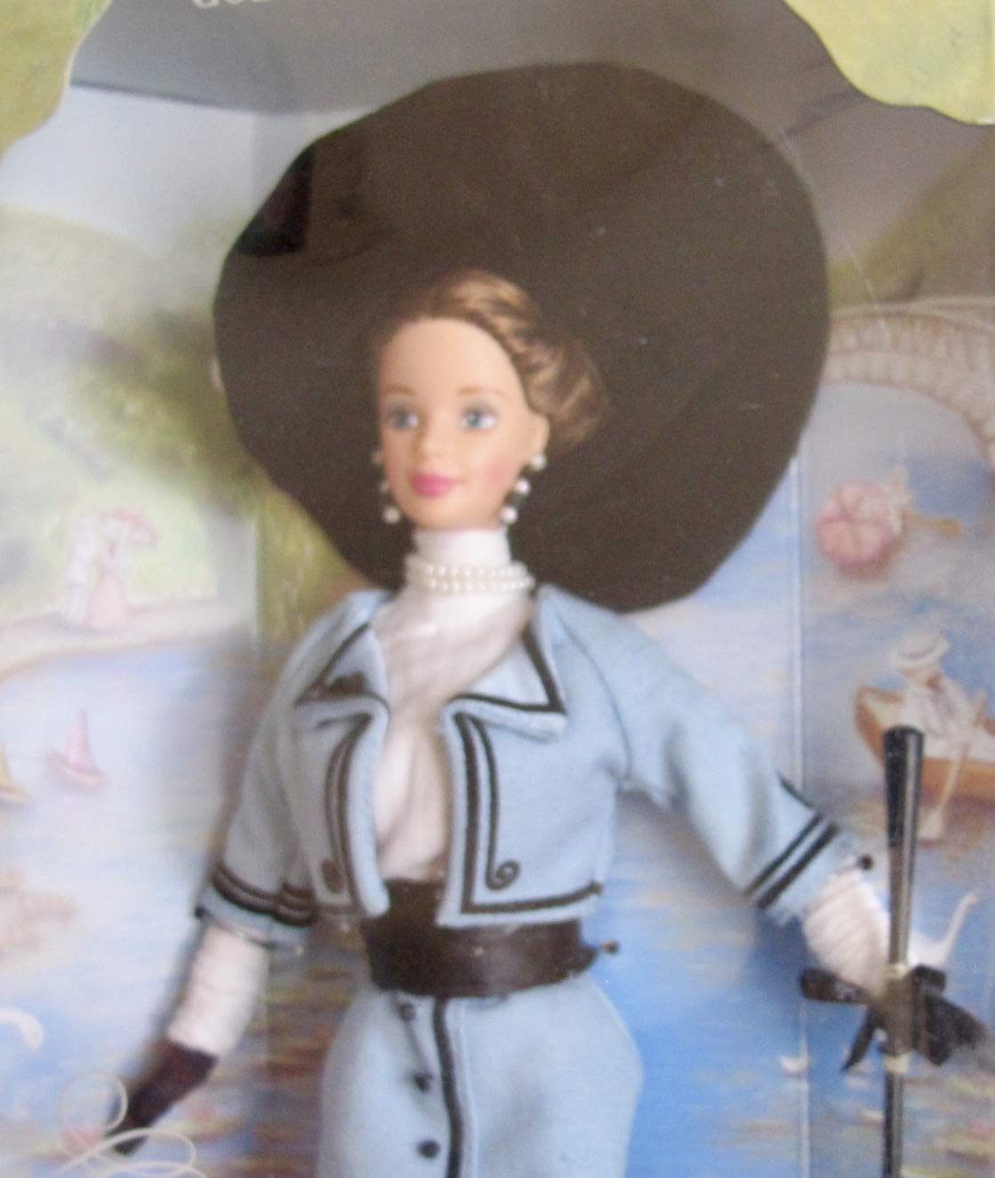 TOP BARBIE DOLL PROMENADE IN THE PARK BLUE  BLACK JACKET COAT CLOTHING ACCESSORY