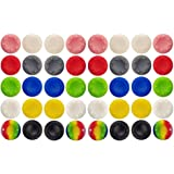 40 Pcs Colorful Silicone Accessories Replacement Parts Thumb Grip Cap Cover, Analog Controller Thumb Stick Grips Cap Cover For PS2, PS3, PS4, XBox 360, XBox One Controller