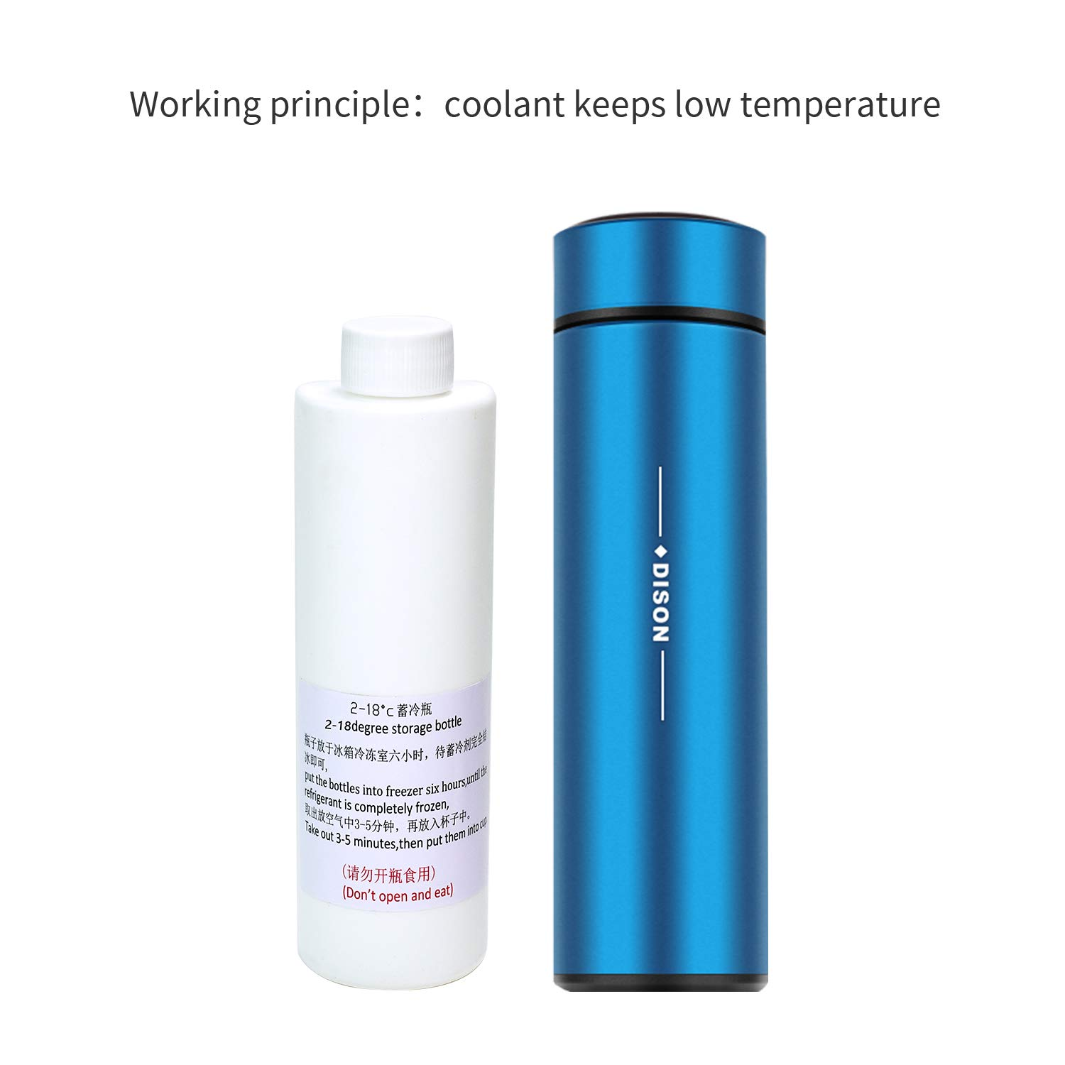 Dison Portable Insulin Cooler Mini Cold Refrigerato 24 Hours at 2-8 Chilled Cup Cooler Box Drug Constant Temperature Refrigerated Blue by dison (Image #5)