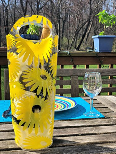 Portable Wine Chiller Bag - Cooler Tote uses Ice & Water, No Freezing Needed, Best Gift Bag for Women & Men, Take Wine to Go or Outdoors, Keep Wine Insulated on Patio & Pool