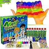 OzBSP Mega Slime Kit DIY Slime Making Supplies - for Kids, Girls & Boys | Make 8 batches of Slime | Glow in the Dark Slime, Foam Beads, Fruit Slices, Beads, Glitter, Neon Colors | Fun STEM Science Kit