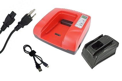 B 36//6.0 B22//3.3 SFL 22-A Box B36//3.9 SFC 22-A SCM 22-A SF 22-A /Cargador para Hilti C 4//36-acs PowerSmart/ B 22//1.6 HDE 500-a22 SFH 22-A AG 125-A22 SCW 22-A B22//2.6 B 36//3.0