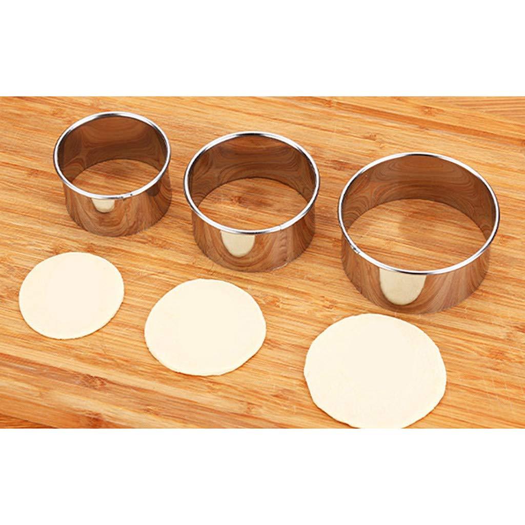Quaanti Stainless Steel Dumpling Maker, Eco-Friendly Dumpling Mold Wraper Dough Cutter, Gyoza Empanada Press Mold,Pie Ravioli Dumpling Mould Pastry Tools (M) by Quaanti (Image #4)