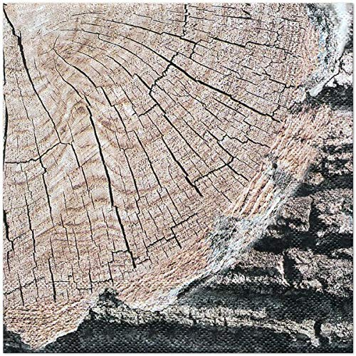Cut Timber 6.5'' Lunch Napkins - 48 count - Rustic, Country, Farm, Lumberjack Paper Party Napkins for Birthday, BBQ, Picnic, Family Reunion by Birthday Direct