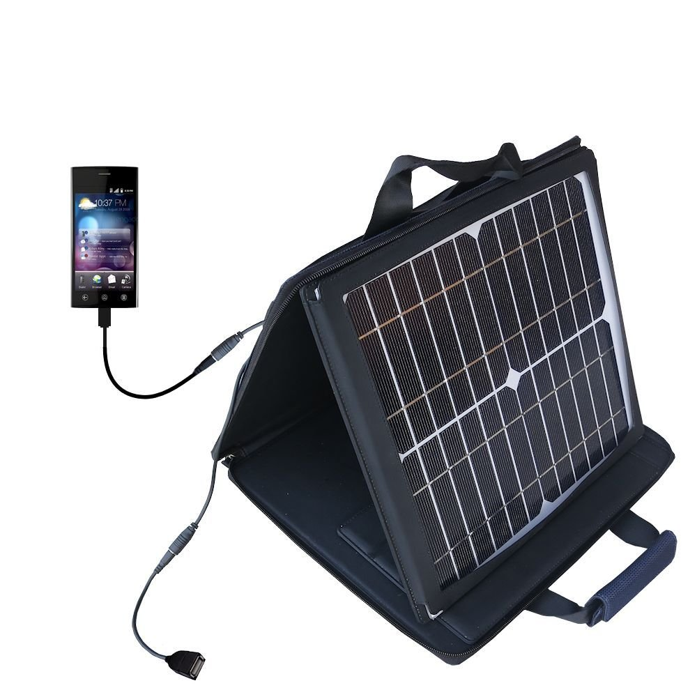 Dell Thunder compatible SunVolt Portable High Power Solar Charger by Gomadic - Outlet- speed charge for multiple gadgets