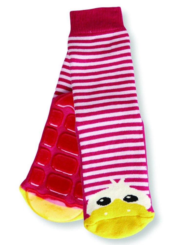 Country Kids Non-Skid Animal Slipper Socks Dee Dee Duck, Pack of 1 DEE-1PK-GIRL