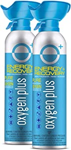 Oxygen Plus 99.5% Pure Recreational Oxygen Cans – O+ Biggi 2-Pack – Energy & Recovery – 11 Liter Cans, 50+ Uses - FDA-Registered Facility Oxygen – Canned Oxygen for Sports and Post Workout