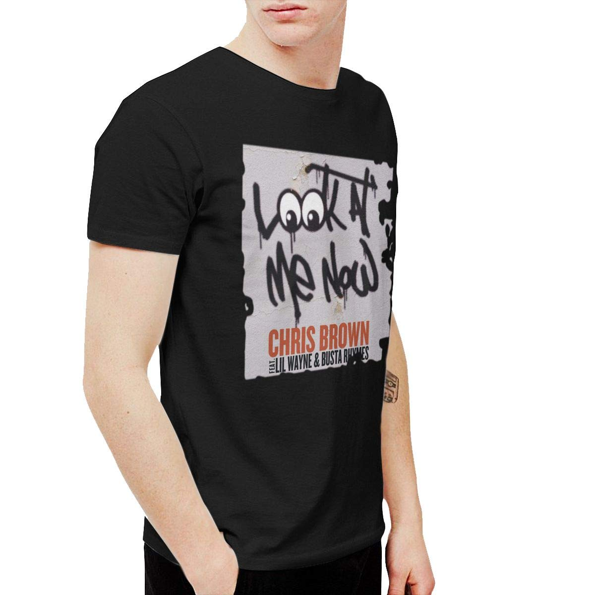 Qybfepbegw Chris Brown Look At Me Now Humor Party T Shirts Short Sleeve 1612