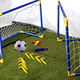 Crystals Premium Quality 2 Mini Outdoor Indoor Kids Children Soccer Football Goals Post Ball Net