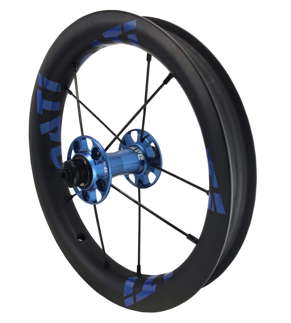 DATI 12インチ S8C-SCW Race series professional (炭素繊維 リム) レース レベル. 低抵抗.スムーズ.バランスバイク Kids Balance Bike Bicycle Super light 子供自転車ホイール 204g/wheel B07LCLG6CZ KOKUA: 84*9MM|Blue/Blue logo Blue/Blue logo KOKUA: 84*9MM
