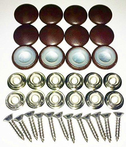 Set Of 12 Dura Snap Upholstery Buttons #30 Sienna Brown (Sienna Boats)