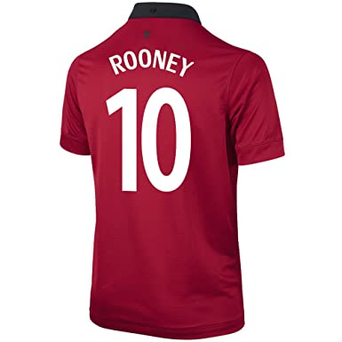 0c118aba7 Amazon.com  ROONEY  10 Manchester United Home Soccer Jersey YOUTH ...