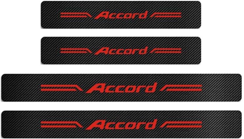 GEERUI 4PCS Threshold Protection Sticker Reflective Carbon Fiber Sticker Decorative Door Entry Guard Door Threshold Scratch Pad Film for Honda Accord Whtie-Accord(4PCS)