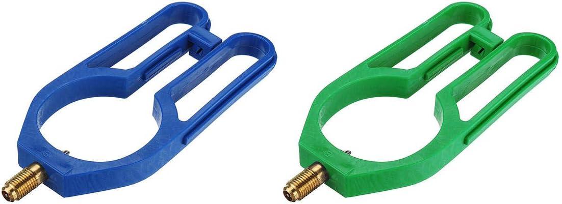 Metal Blud M14 or 1//2 thread Measuring Refrigerant Hose for Universal Car Auto
