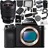 Sony Alpha a7S Mirrorless Digital Camera with Sony FE 12-24mm f/4 G Lens 18PC Accessory Bundle – Includes 64GB SD Memory Card + 2x Replacement Batteries + MORE