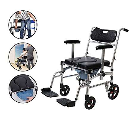 GxYue Andadores Silla de Ducha médica de Aluminio/Inodoro ...